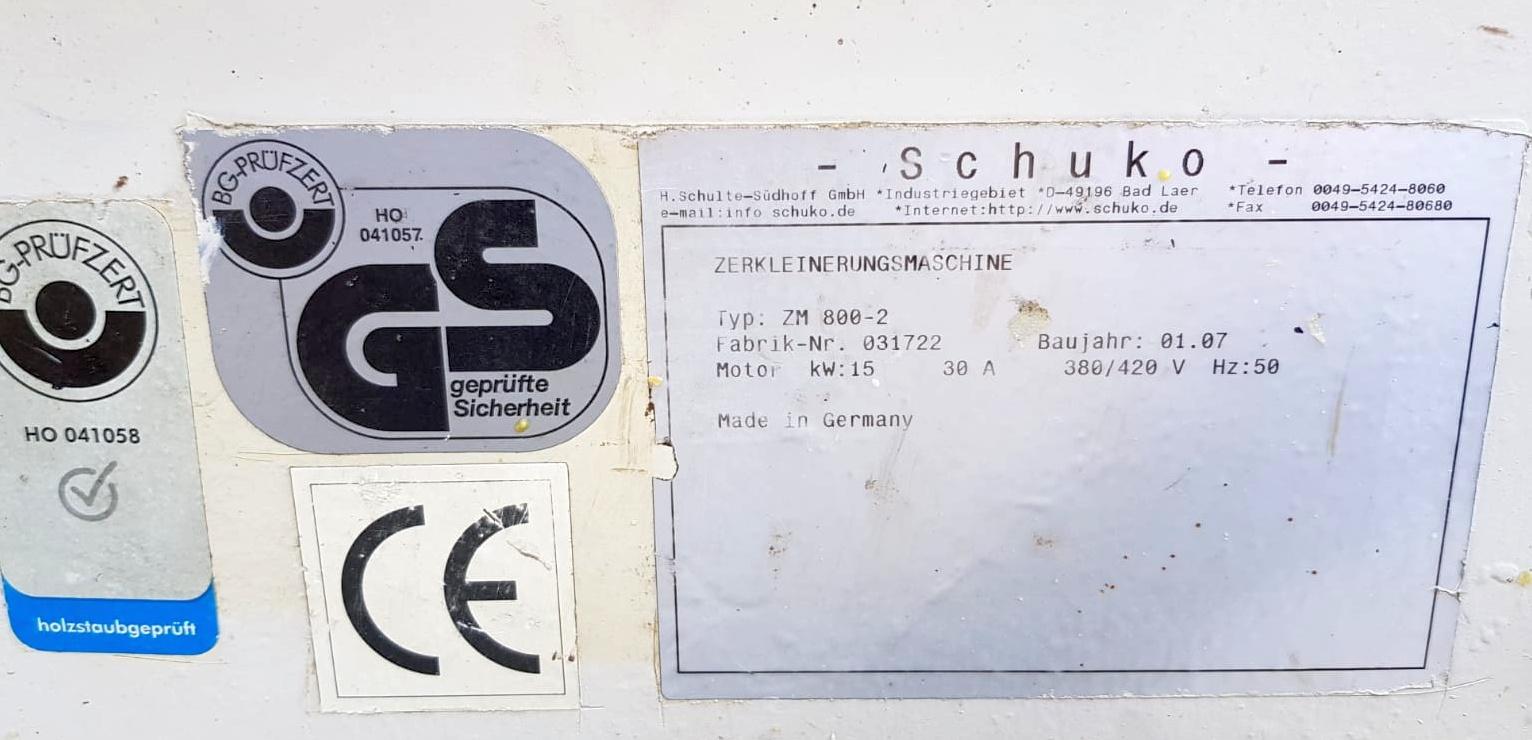 Schuko ZM 800-2 houtverkleiner - 486